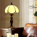 EuSolis 8 Pouces en Verre ambré Tiffany Vintage Gold Lampe de Table Classic Designer Abat-Jour Lampe de Chevet E27 Home Deco pour Salon de la marque EuSolis image 3 produit