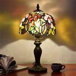 EuSolis Tiffany Lampes de chevet et de table Fleurs artisanales à 8 pouces Vitrail E27 Lampes de chevet de luxe 01 de la marque EuSolis image 1 produit