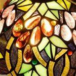 EuSolis Tiffany Lampes de chevet et de table Fleurs artisanales à 8 pouces Vitrail E27 Lampes de chevet de luxe 01 de la marque EuSolis image 3 produit