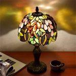EuSolis Tiffany Lampes de chevet et de table Fleurs artisanales à 8 pouces Vitrail E27 Lampes de chevet de luxe 01 de la marque EuSolis image 4 produit