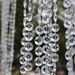Ewparts 30M Cristal Garland Diamant Acrylique Perles Perles chaîne Perles chandlier, pour brins Suspendu Rideau Drop décoration de la Maison (Transparent) de la marque Ewparts image 1 produit