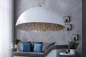 Extravagante Suspension Blanc Argent Ø 70cm Design moderne ronde Lampe suspension Grand salon salle à manger de la marque Licht-Erlebnisse image 0 produit
