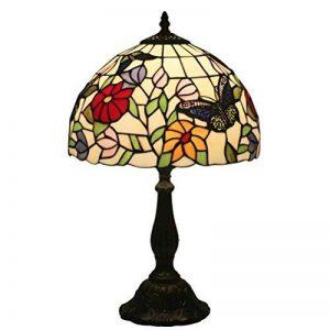 FABAKIRA 12 pouces Vitrail Tiffany Lampe de Chevet E27 pour Chambre Salon Rétro Vintage Art Deco Designer Lampe de la marque FABAKIRA image 0 produit