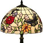 FABAKIRA 12 pouces Vitrail Tiffany Lampe de Chevet E27 pour Chambre Salon Rétro Vintage Art Deco Designer Lampe de la marque FABAKIRA image 4 produit