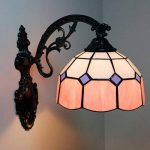 Fabakira Tiffany Rétro Applique Murale Ensemble de Lampe Abat-jour en Verre pour Maison Bar Café Boutique Décoration 36*29*21.5CM de la marque FABAKIRA image 2 produit
