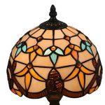 Fabakira Vintage Papillon Pastoral avec des Fleurs Lampe de Table en Verre Tiffany Style 20 * 39cm de la marque FABAKIRA image 3 produit