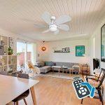 FABRILAMP Ventilateur de plafond avec lampe LED Série Delfin 13W 4 000K Avec télécommande Couleur Blanc de la marque FABRILAMP image 3 produit