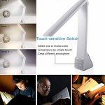 Facetoworld Lampe de Bureau Pliable, Lumière de Table LED 4W avec USB,Contrôle Tactile, 3 Modes Lecture/Etude/Relax/, bras pliable 180 °, Confortable pour vos yeux de la marque Facetoworld image 2 produit