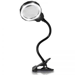 Fancii Lampe Loupe LED, 8 Dioptries Rechargeable avec Lumière du Jour et Pince en Métal - Loupe de Table sur Pied avec Lumière Réglable sur 3 Niveaux D'intensité et Manche en Aluminium Amovible de la marque Fancii image 0 produit