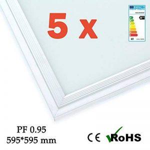 FASHIONGEN - 5 x Panneau LED EPISTAR Slim 60x60cm 48W 4320lm Cadre Blanc - Blanc Froid 6000k-6500K - Blanc, 6500 K de la marque FASHIONGEN image 0 produit