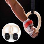 FEMOR FS018 Anneaux Gymnastique en Bois Réglable Exercice Fitness Suspension Training Anneaux de Bouleau 32mm + 2* bandes en Nylon 4.5m 3.8cm de la marque Femor image 3 produit