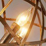 FGHOME Industriel Vintage Rustique En Fer Forgé Style Vieilli Bougie En Laiton Lustre Globe Ombre Pendentif Lumière Luminaire Suspendu avec 4 lumières de la marque FGHOME image 3 produit