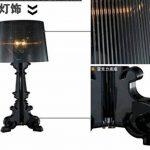FGHOME personnalité Créativité Baroque Ghost lampe de table moderne Lampe d'étude salon Simple lampe de chevet pour chambre Cafe lampe de table Bar lampe de table (Noir) ... de la marque FGHOME image 3 produit