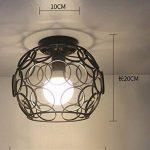 FGHOME Simple Plafonnier Luminaire Bar Comptoir Couloir Allées Hall d'entrée Balcon Rangement du cabinet Étude Chambre Lumières Fer Art Lampe Entrepôt Sphérique (C) de la marque FGHOME image 1 produit