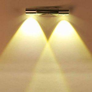 Finether 6W Lampe Applique Mural LED Luminaire Blanc Chaud Lumière Eclairage Pour Chambre Escalier Salon Bureau Porche de la marque Finether image 0 produit