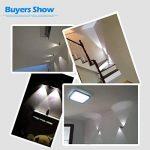Finether 6W Lampe Applique Mural LED Luminaire Blanc Chaud Lumière Eclairage Pour Chambre Escalier Salon Bureau Porche de la marque Finether image 4 produit
