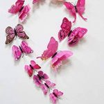 FiveRen 36 Pcs Double Aile 3D Papillon Stickers Mural Artisanat Art Design Decal Mur Home Decor Décorations de Chambre pour Babys Chambre TV Fond Salon (3 Couleurs, 3 Paquets, Noir, Blanc, Rose) de la marque FiveRen image 4 produit