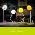 Flikool Rechargeable Abeille LED Lumiere de Nuit Pliable Flexible Lampe de Chevet Capteur Tactile Veilleuse Lampe Dimmable Senseur de Touche 3D Lampe de Bureau Lampe de Table Mignon Cadeau pour Decoration Noel d'anniversaire Enfants Bebe - Pink de la marq image 4 produit