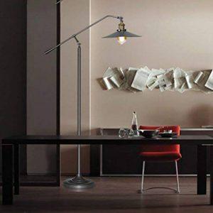 Floor DL Lampadaires Lampadaire LOFT Noir Vintage Fer Art Salon étude lampadaire Industriel Vent nostalgique Bras Long Pêche lampadaire Taille: 27 * 150 cm Lampe sur Pied de la marque Floor DL image 0 produit