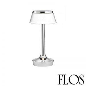Flos Bon Jour Unplugged LED Lampe de table chrome transparent f1037057 de la marque Flos image 0 produit
