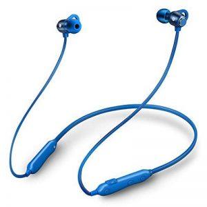 FLY Casque Bluetooth sans Fil 4.1 Écouteurs Suspendus Écouteurs Suspendus Oreilles Stéréo Montées sur Le Cou Oreillette Bluetooth (Couleur : Bleu) de la marque FLY image 0 produit