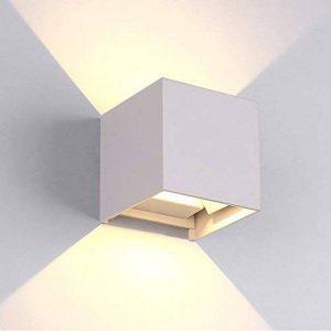 Flyv Light 12W Applique murale d'extérieur moderne pour intérieur/extérieur IP65 LED encastrée et Downlight avec angle d'éclairage réglable 3000 K Blanc chaud Aluminium 12 W de la marque Flyv Light image 0 produit