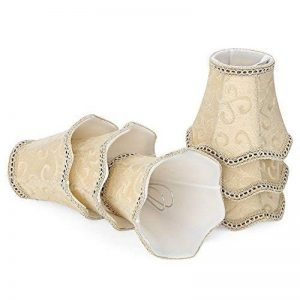 Fuloon Abats-jour en Tissu de Luxe Style Rococo Européen pour Applique de Bougeoir Lustre de Chandelier (beige, 6 PCS) de la marque Fuloon image 0 produit