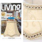 Fuloon Abats-jour en Tissu de Luxe Style Rococo Européen pour Applique de Bougeoir Lustre de Chandelier (beige, 6 PCS) de la marque Fuloon image 2 produit