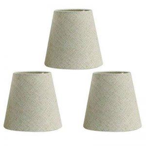 Fuloon Lot de 3 Pièces Abats-jour de Lampe en Tissu pour Lustre Applique Type de Bougeoir (Beige) de la marque Fuloon image 0 produit