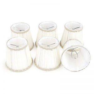 Fuloon Lot de 6 Abats-jour en Tissu Délicat Style Elégant pour Applique de Bougeoir Lustre de Chandelier (blanc) de la marque Fuloon image 0 produit