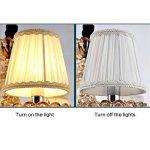 Fuloon Lot de 6 Abats-jour en Tissu Délicat Style Elégant pour Applique de Bougeoir Lustre de Chandelier (blanc) de la marque Fuloon image 4 produit