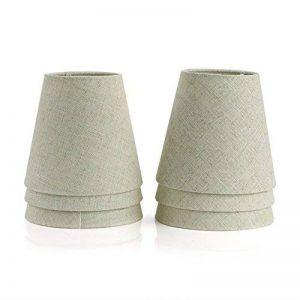 Fuloon Lot de 6 Pièces Abats-jour de Lampe en Tissu pour Lustre Applique Type de Bougeoir (Beige) de la marque Fuloon image 0 produit