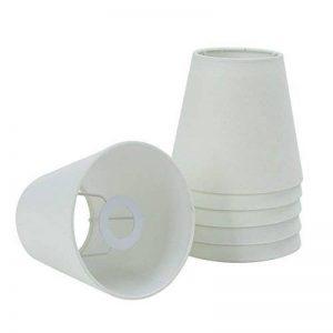 Fuloon Lot de 6PCS Abats-jour en Tissu pour Lampe E14 Lustre Applique Type de Bougeoir (Blanc) de la marque Fuloon image 0 produit