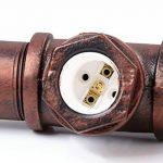 Fuloon Luminaire de Suspension 5 Edisons Lustre Rétro en Bronze Tuyau en Métal Finition Vintage Lampe d'Atmosphère Pour Café Bar de la marque Fuloon image 4 produit