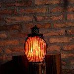Gadgy ® Lampe en Cristal de Sel de l'Himalaya avec Panier en Métal | 17,5x17,5x27 cm Variateur | Sculptée à la Main | Cristaux de Roche Rose | Ampoule E14 Incluse | Naturelle & Thérapeutique | Lampe de Table de Chevet | Décoration de Salon de la marque Ga image 3 produit