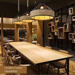 Ganeep Vintage Industriel Fer Lustre Américain Pays Chanvre Corde Suspendu lumières Creative Restaurant Café Bar Loft Lumières de la marque Ganeep image 3 produit