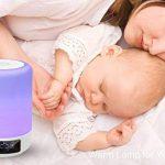 GB-Lun Lampe de Chevet Enceinte tactile Portable Bluetooth Haut-Parleur Réveil Alarme Horloge, Support TF Carte, USB, Bluetooth, Mains libres fonction de temporisation, Aux avec 7 Couleur 3 Mode de Lumière Pour Famille Bureau Enfants Accueil Déco Travaux image 3 produit