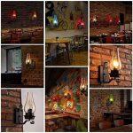 GBYZHMH Lampe Murale Loft Industriel Vintage, Lampe de mur de fer de l'île de cuisine Bar Salle à manger Couloir Balcon Café abat-jour en verre E27 Eclairage mural ( Couleur: mauve ) de la marque GBYZHMH image 1 produit