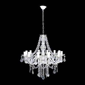 GBYZHMH Salon Lustre en plexiglas Blanc éclairage aux chandelles Restaurant Simple Chambre Retro E14 Fer forgé Lustre Plafonnier de la marque GBYZHMH image 0 produit