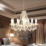 GBYZHMH Salon Lustre en plexiglas Blanc éclairage aux chandelles Restaurant Simple Chambre Retro E14 Fer forgé Lustre Plafonnier de la marque GBYZHMH image 4 produit