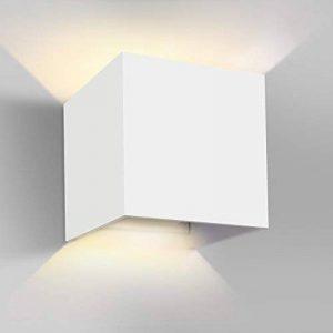 GHB 7W Applique Murale de LED de Qualité Lampe de Mur Anti-Eau IP65 Réglable Lampe de Haut en Bas Design 2700K Blanc Chaud de la marque GHB image 0 produit