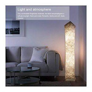 Gimify Lampadaire Design Moderne Lampe de Sol Abat-jour en Tissu Plissé avec 2 Ampoules LED pour Salon Chambre Decoration 26x26x132cm (RGB) de la marque Gimify image 0 produit