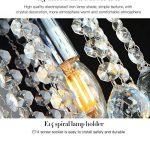 Gimify Lustre en Cristal Eclairage Plafonnier Moderne Design Pour Couloir Bar Cuisine Salle à Manger (15CM Rain) de la marque Gimify image 4 produit