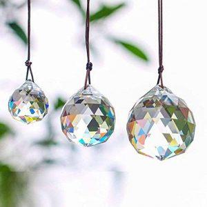Gino Lot de 3Clair Boule de Cristal Comprend 20/30/40mm à facettes Prism Balles Attrape-Soleil pour éclairage de Plafond Lustre à Suspendre pour décoration de la marque Gino image 0 produit