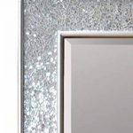 Glamour by Casa Chic Miroir Mural Design - Miroir rectangulaire Mosaïque Moderne - Salle de Bain, Salon ou Chambre - Grand 90 x 60 cm - Argent Brillant de la marque Glamour by Casa Chic image 2 produit