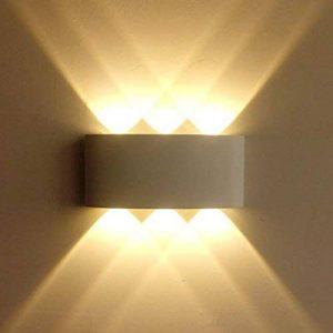 Glighone Applique Murale Extérieur Intérieur LED Moderne 6W Étanche IP65 En Aluminium Up Down Eclairage Décoration Lumière Pour Chambre Salon Escalier Jardin Terrasse Mur Patio Blanc Chaud de la marque Glighone image 0 produit