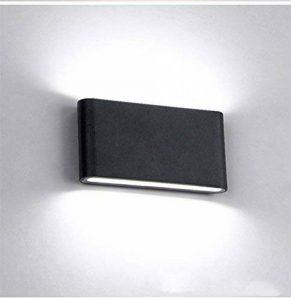 Glighone Applique Murale Intérieur Moderne LED 12W Up Down en Aluminium Lumière Décoratif pour Chambre Jardin Terrasse Guinguette Couloir Restaurant Noir Blanc Froid de la marque Glighone image 0 produit