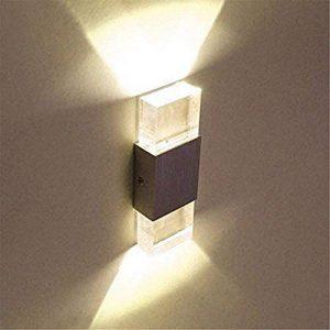 Glighone Applique murale LED 2 Mini en Aluminium 6W Eclairage Decoratif pour Chambre Couloir Salon - Blanc Chaud de la marque Glighone image 0 produit