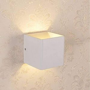 Glighone Applique Murale Spot LED 5W Intérieur Moderne Carré Cube Up Down en Aluminium Eclairage Désigne Original pour Chambre Bureau Couloir Salon Hôtel Restaurant Bar Blanc Chaud de la marque Glighone image 0 produit