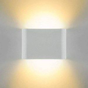 Glighone Applique Murale Spot LED 6W Intérieur Moderne Carré Cube Up Down en Aluminium Eclairage Désigne Original pour Chambre Bureau Couloir Salon Hôtel Restaurant Bar Blanc Chaud de la marque Glighone image 0 produit